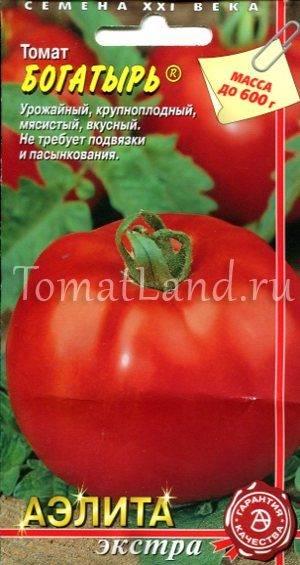 Характеристика и описание сорта томата русский богатырь - всё про сады