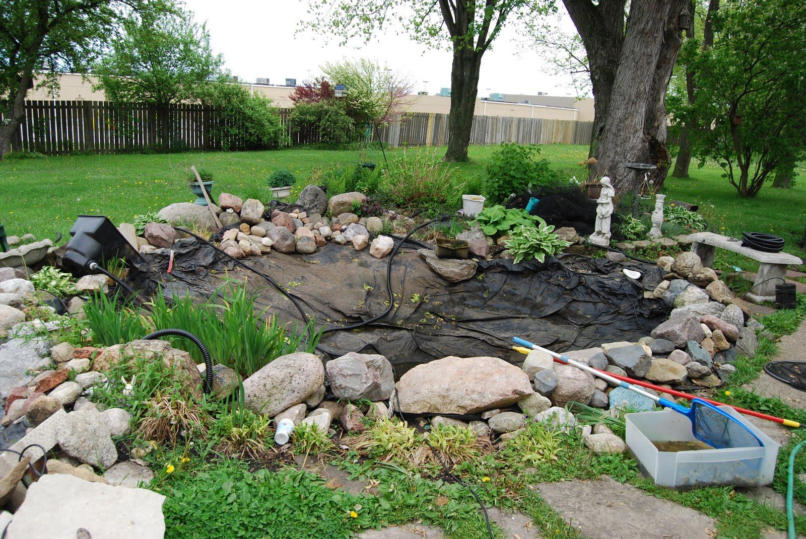Подготовка к зиме садового пруда/озерца/ручейка