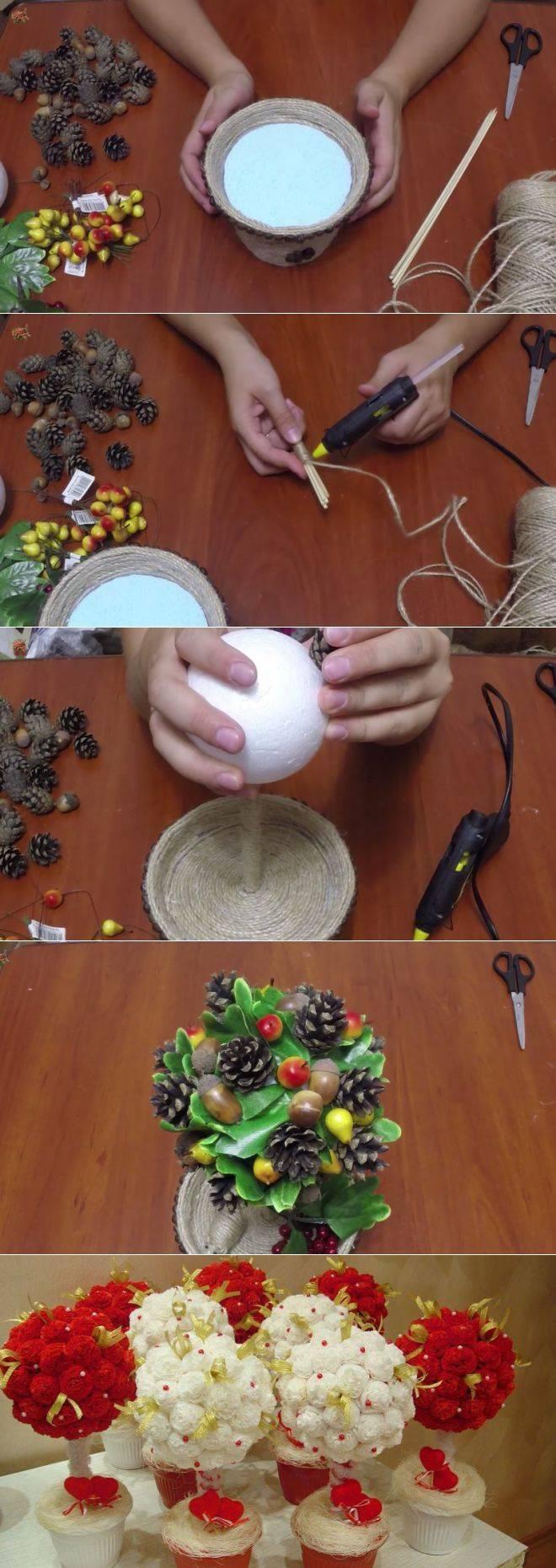 Как сделать топиарий своими руками пошагово с фото для начинающих. мастер-классы