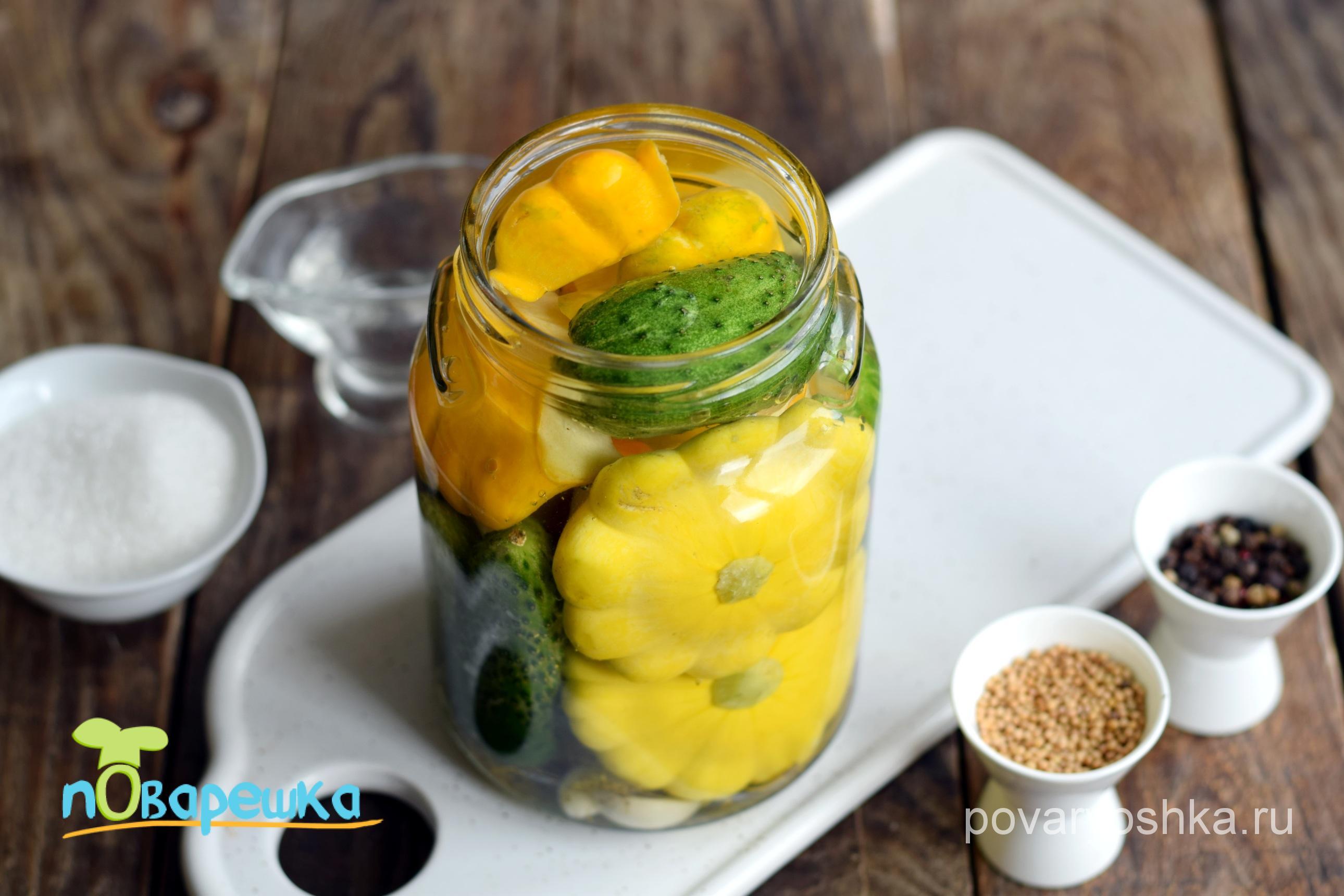 Маринованные патиссоны – 4 самых простых рецепта