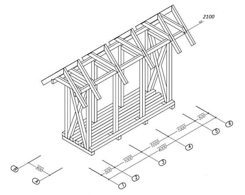 Как быстро и недорого построить дровник на даче