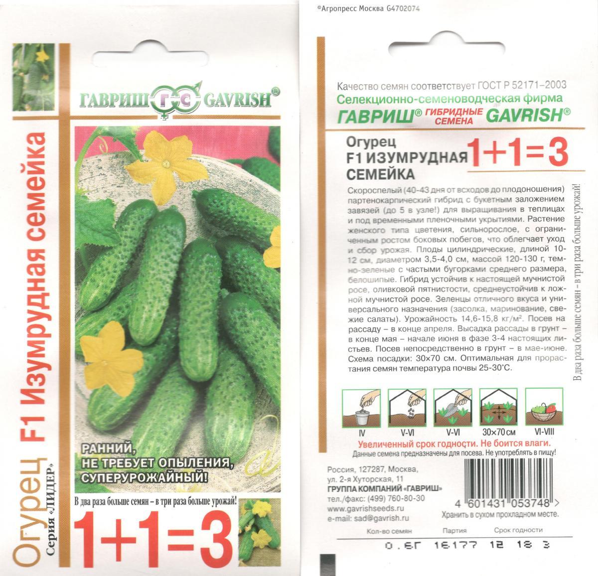 Огурцы дружная семейка описание и характеристика сорта урожайность с фото