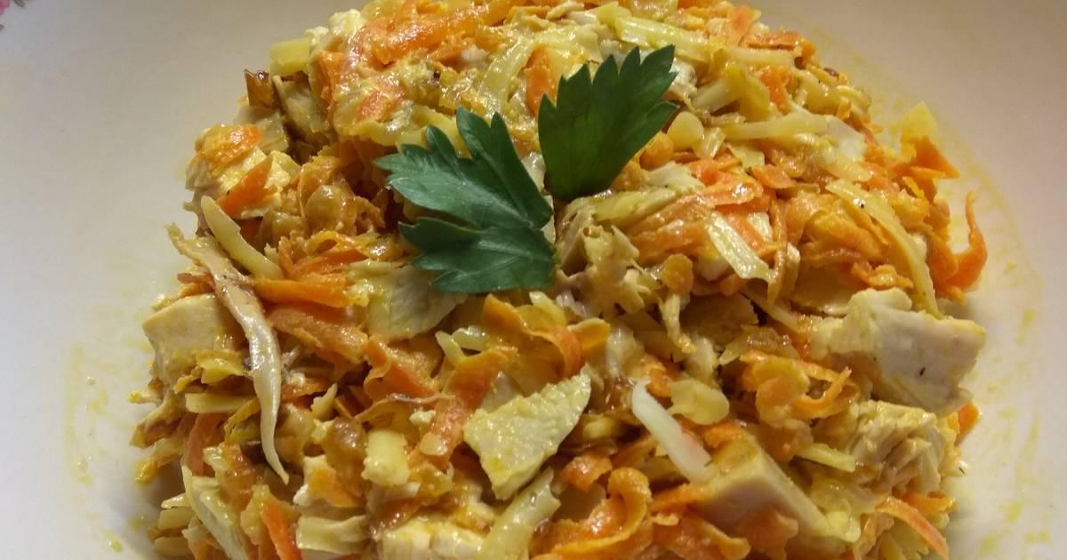 Салат анастасия с корейской морковкой
