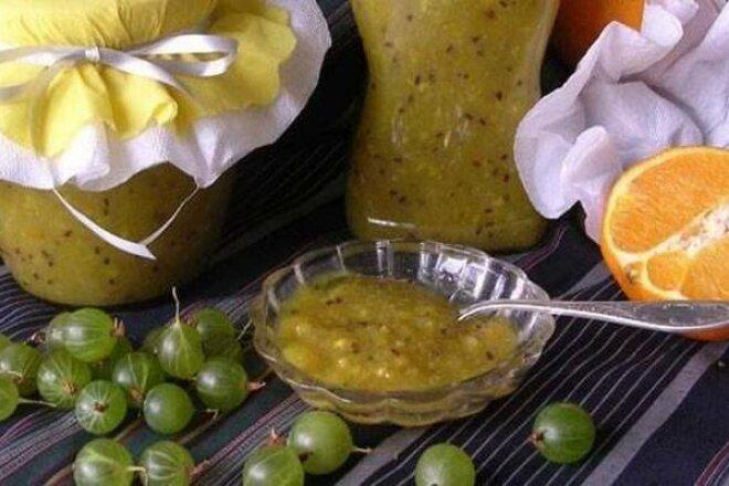 5 лучших рецептов приготовления варенья из крыжовника с лимоном на зиму без варки