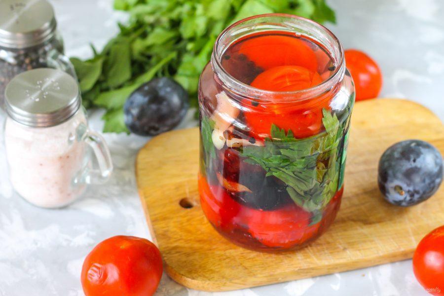 Самые вкусные рецепты консервированных помидоров со сливами на зиму - всё про сады