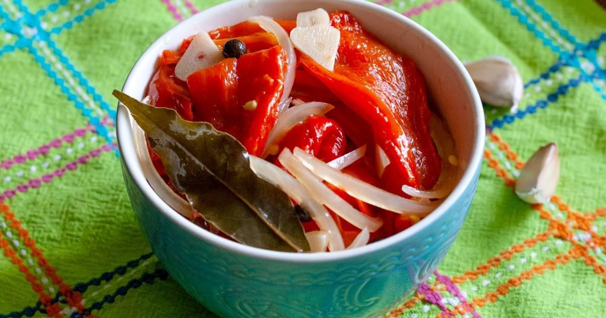 Печеный болгарский перец на зиму - 10 пошаговых фото в рецепте