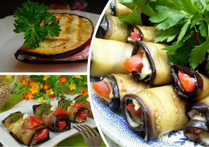 Рулетики из баклажанов с разными начинками: рецепты с фото - домашний ресторан