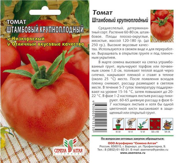 Штамбовые томаты - что это такое: характеристика и выращивание в открытом грунте