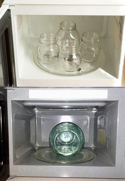 Как стерилизовать банки в микроволновке для варенья