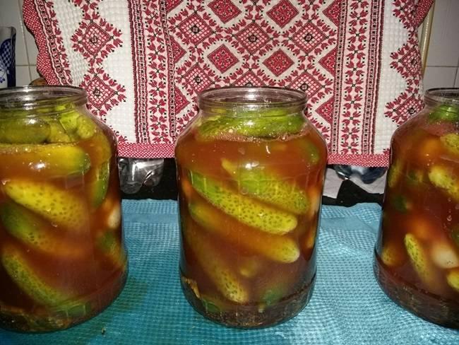 Топ 7 вкусных рецептов огурцов с кетчупом чили на зиму в литровых банках