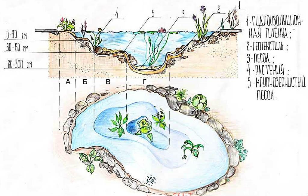 Декоративный пруд: подготовка к зиме