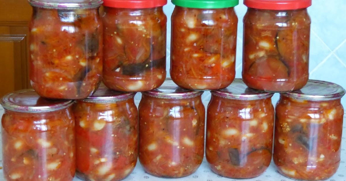 Баклажаны с фасолью на зиму: лучшие рецепты салатов