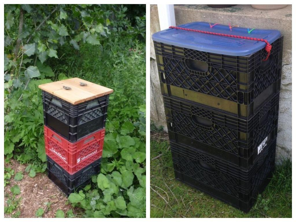 Оборотные пластиковые ящики: 16 идей применения на даче
