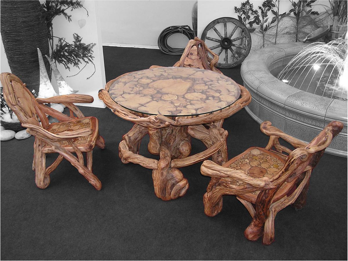 Дорогая мебель в стиле рустик