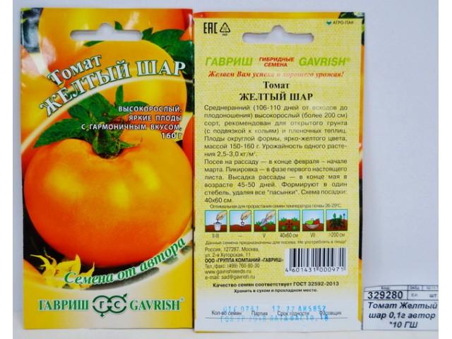 Описание сорта томата желтый шар, особенности выращивания и ухода