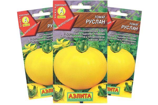 Описание среднеспелого сорта томата Руслан и правила выращивания нового вида