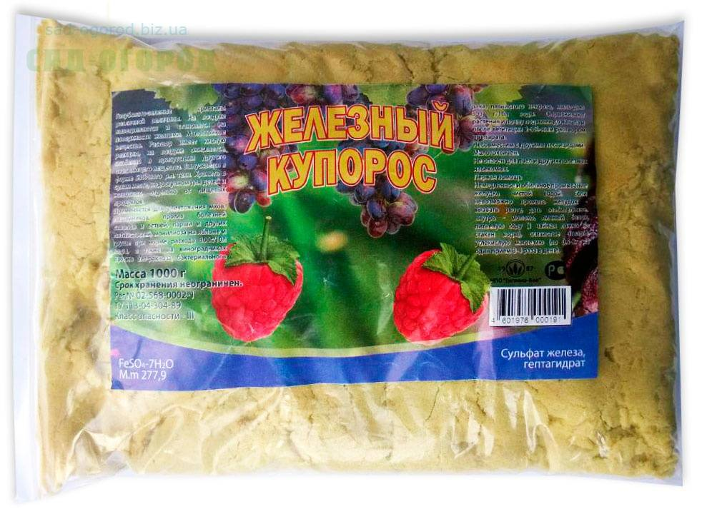 Правильное применение железного купороса в садоводстве весной и осенью