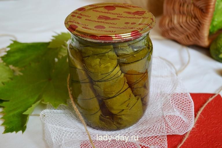 Как заготовить виноградные листья на зиму для долмы – рецепты с фото