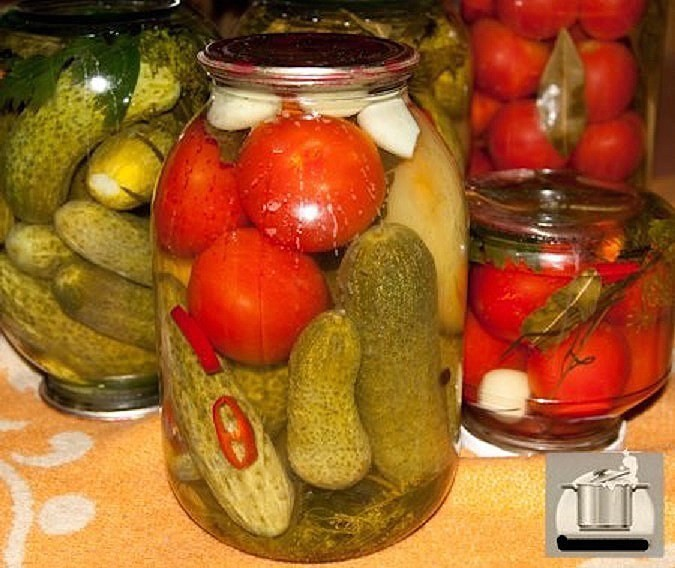 Ассорти из помидор и огурцов на зиму: рецепты и 13 способов консервирования