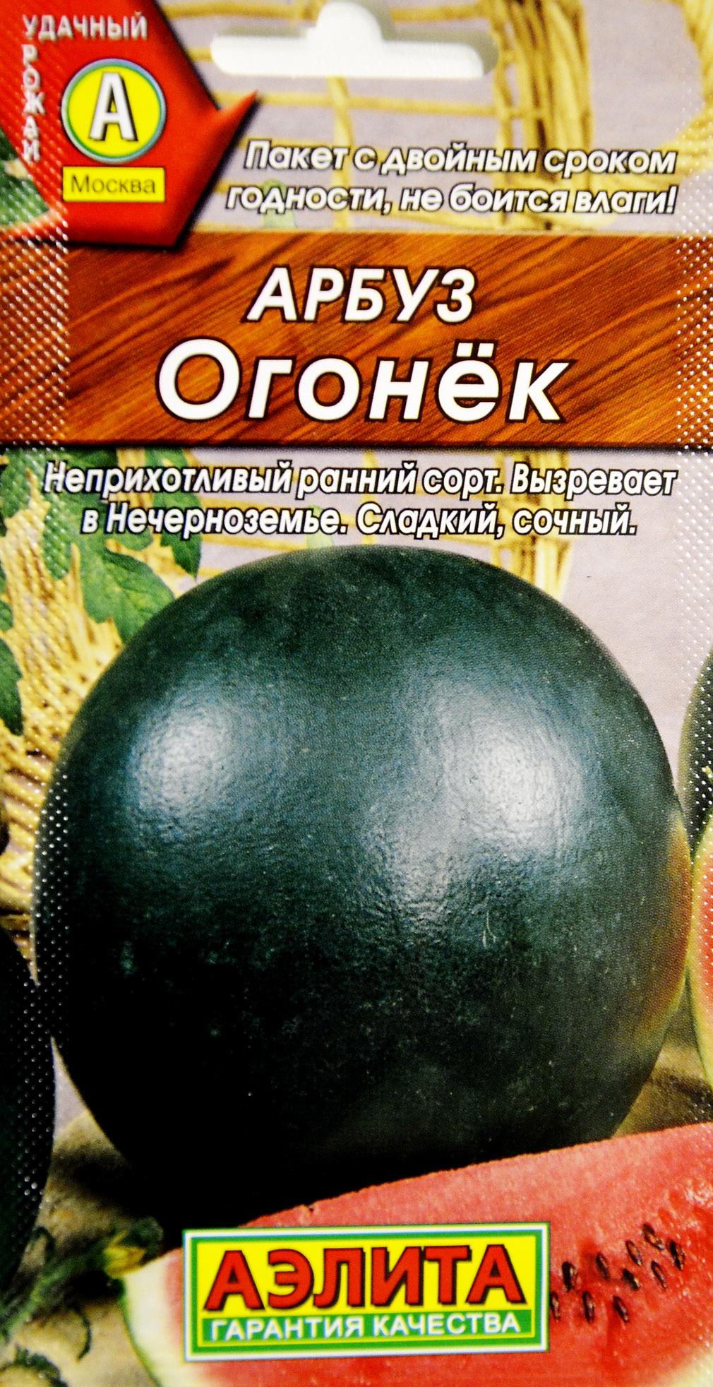 Арбуз огонёк: выращивание, описание сорта, отзывы и фото