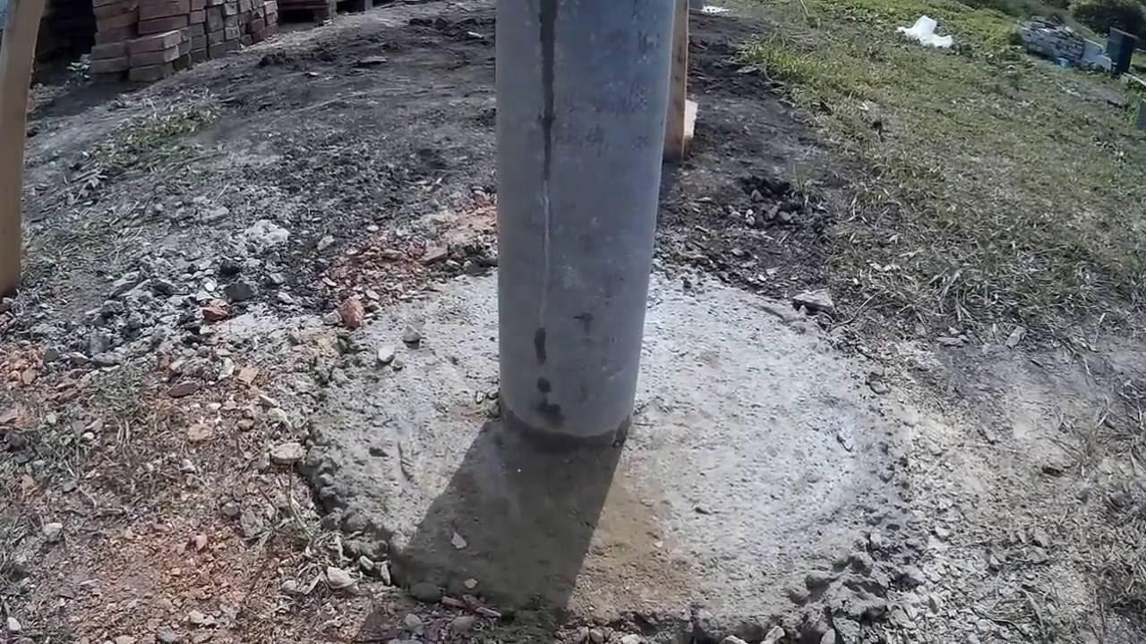 Изготовление фундамента под забор своими руками