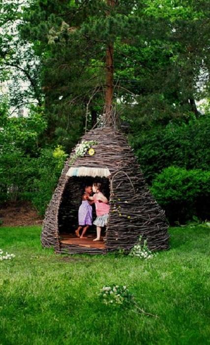 Показать дачный дом шалаш и чертеж. как сделать шалаш для детей на даче: варианты конструкций для всех возрастов