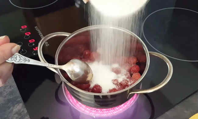 Варенье из замороженной вишни в домашних условиях / заготовочки