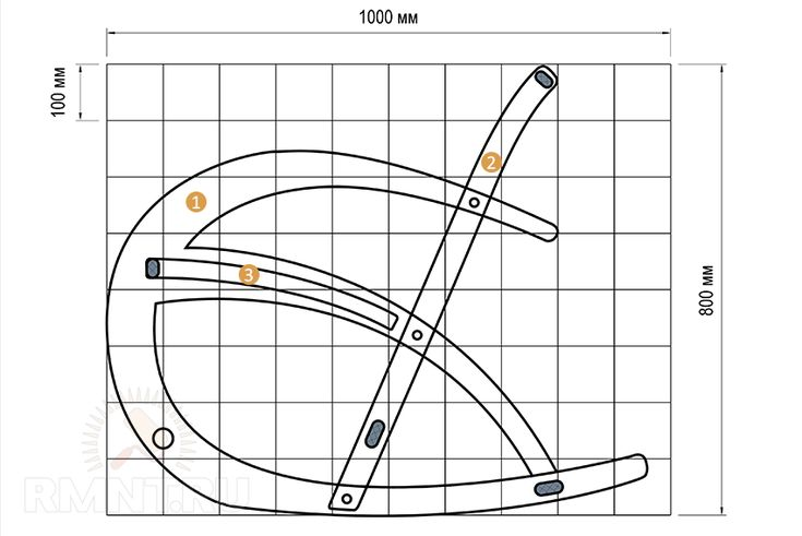 Делаем кресло-качалку своими руками: чертежи для производства из фанеры