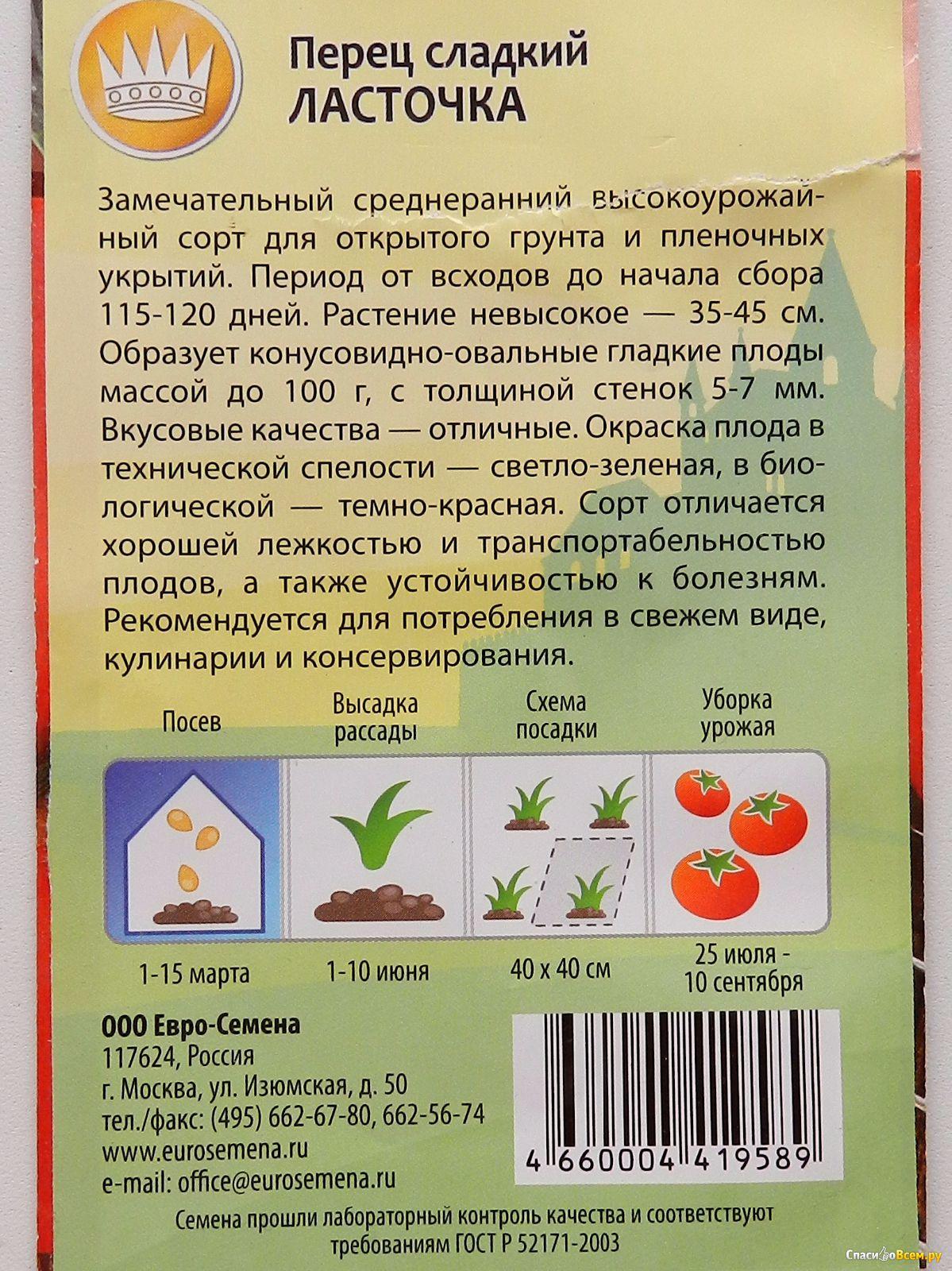 """Перец """"ласточка"""":  характеристика и описание сорта, особенности выращивания сладкой культуры, урожайность, болезни и вредители"""