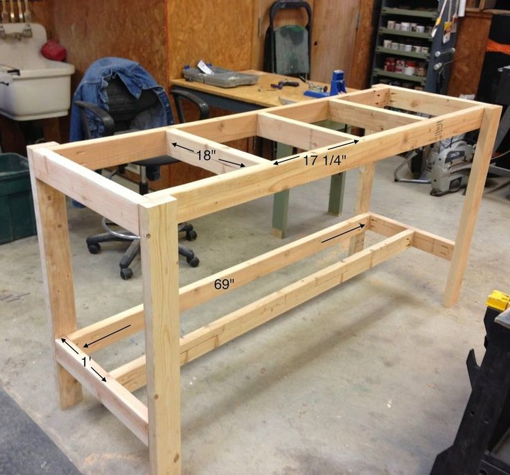Верстак своими руками: как сделать деревянный или металлический стол для гаража