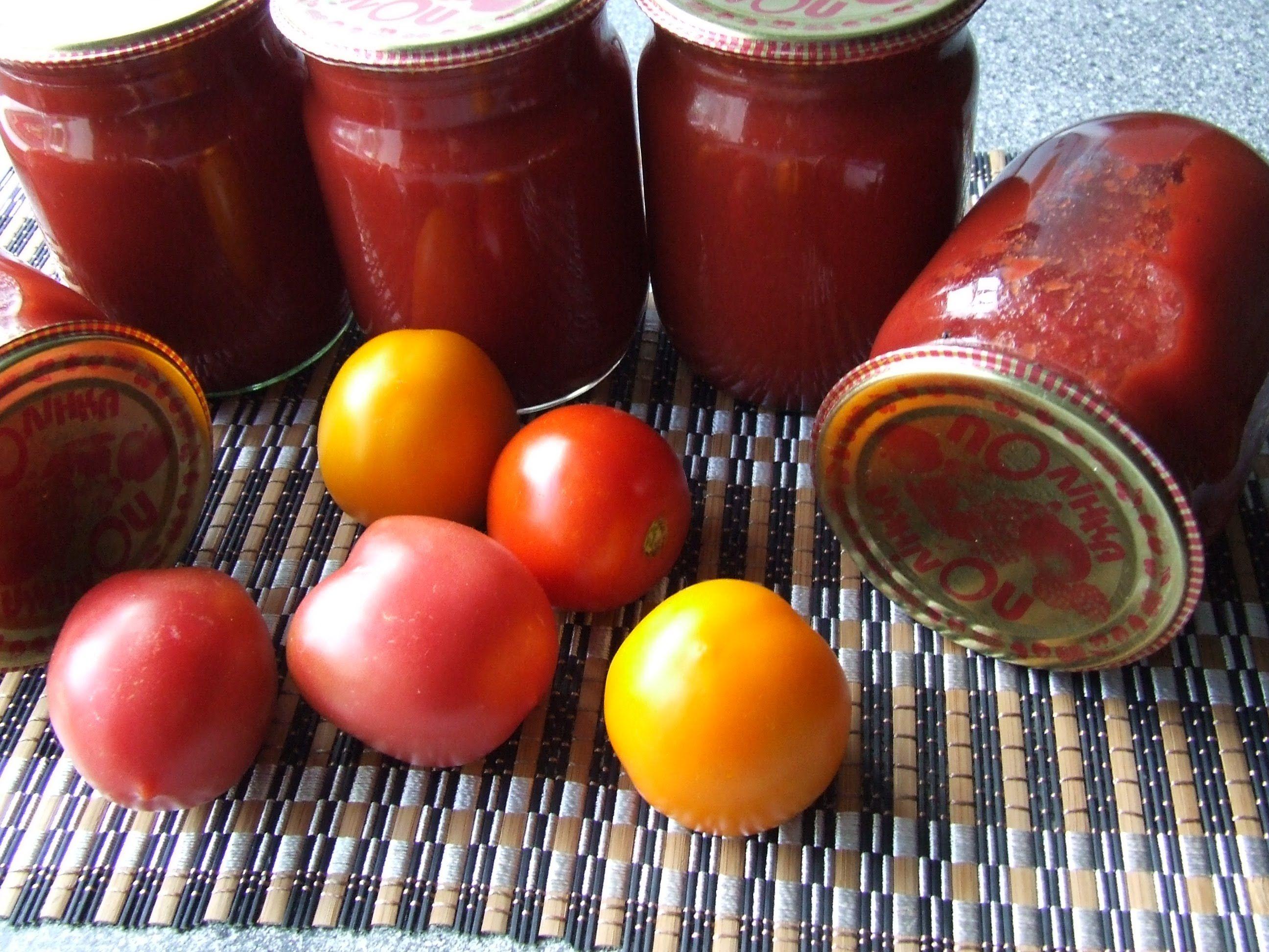 Помидоры в томатном соке без стерилизации и без уксуса, со стерилизацией, простой рецепт. помидоры черри в томатном соку