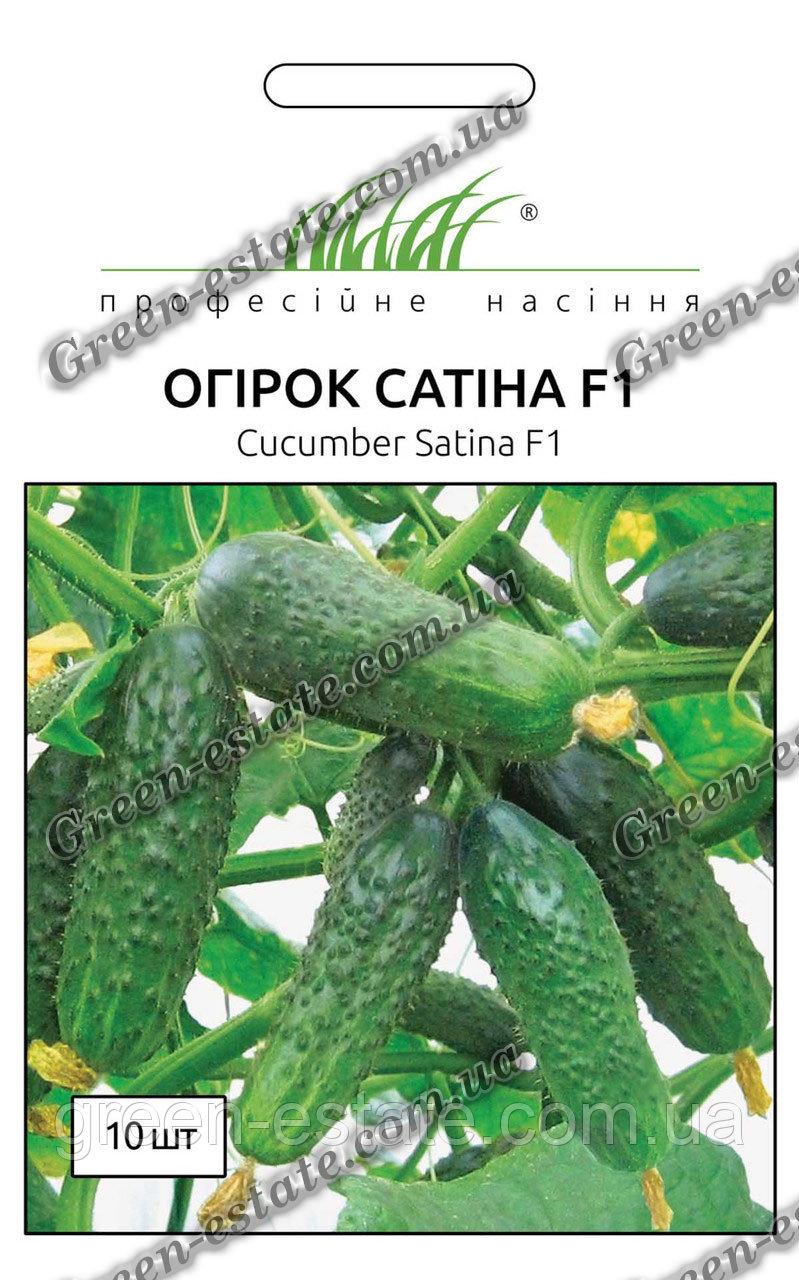 Огурец сатина f1: описание сорта, отзывы и урожайность, фото