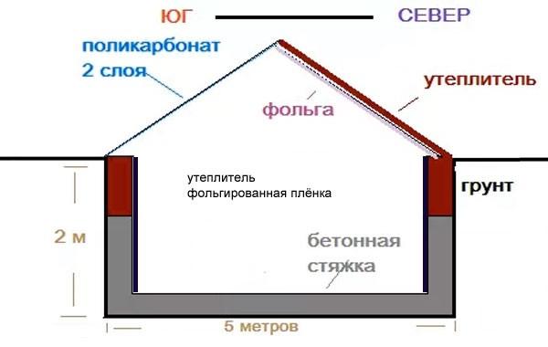 Теплица термос своими руками: принципы строительства и устройства