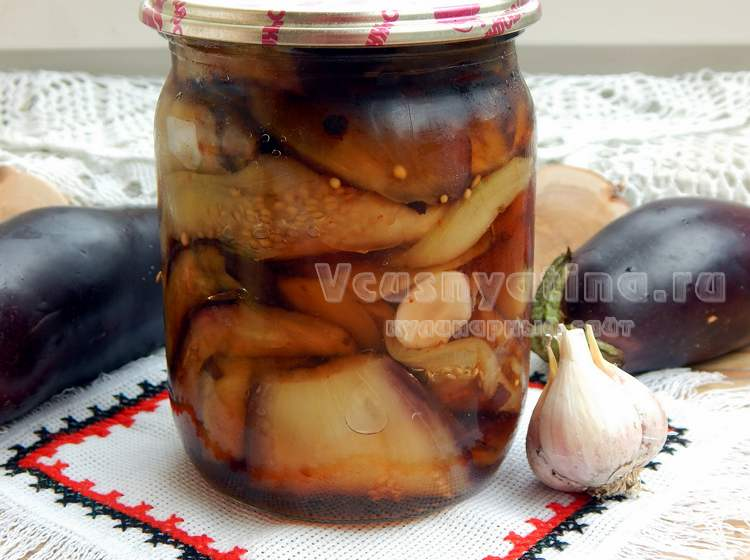 Репты маринованных баклажан с медовым соусом и чесноком на зиму, со стерилизацией и без