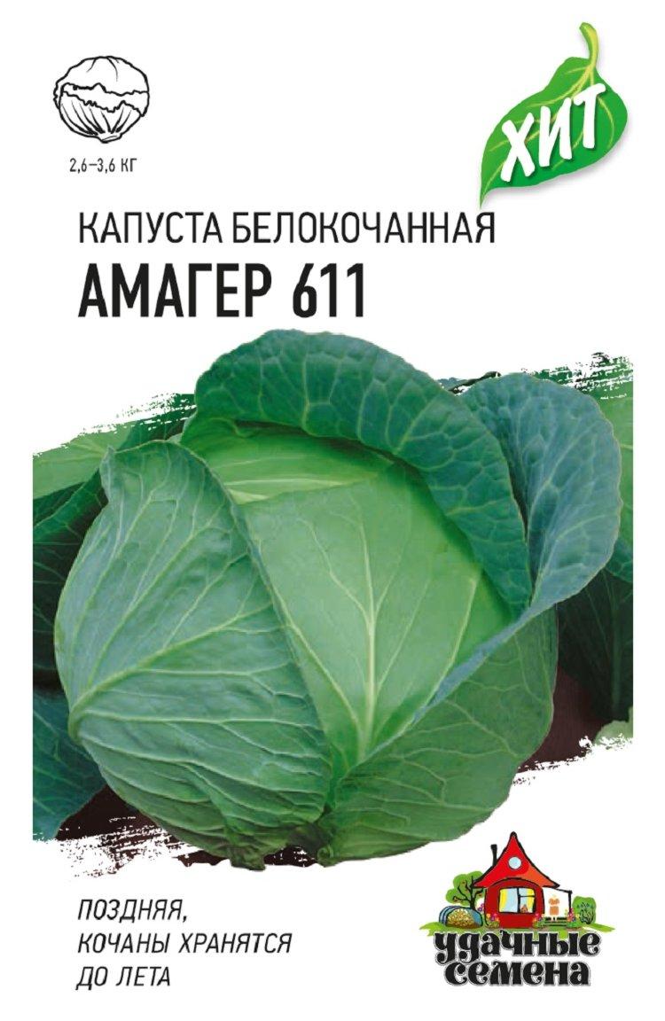 Капуста амагер 611: характеристика и описание сорта с фото