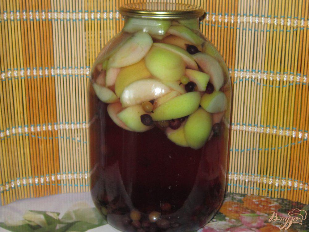 Компот из яблок и красной смородины на зиму: фото рецепт
