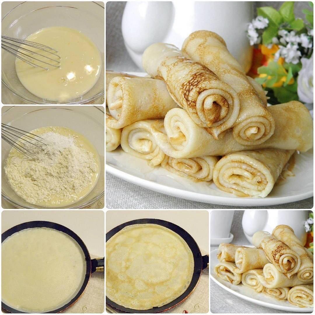 Самые вкусные блины на молоке: рецепты тонких блинов с дырочками