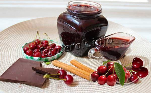 Варенье вишня в шоколаде и с коньяком, рецепт с фото пошагово