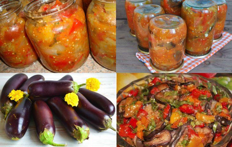 Салат десятка из баклажанов на зиму: пошаговый рецепт в трех вариантах