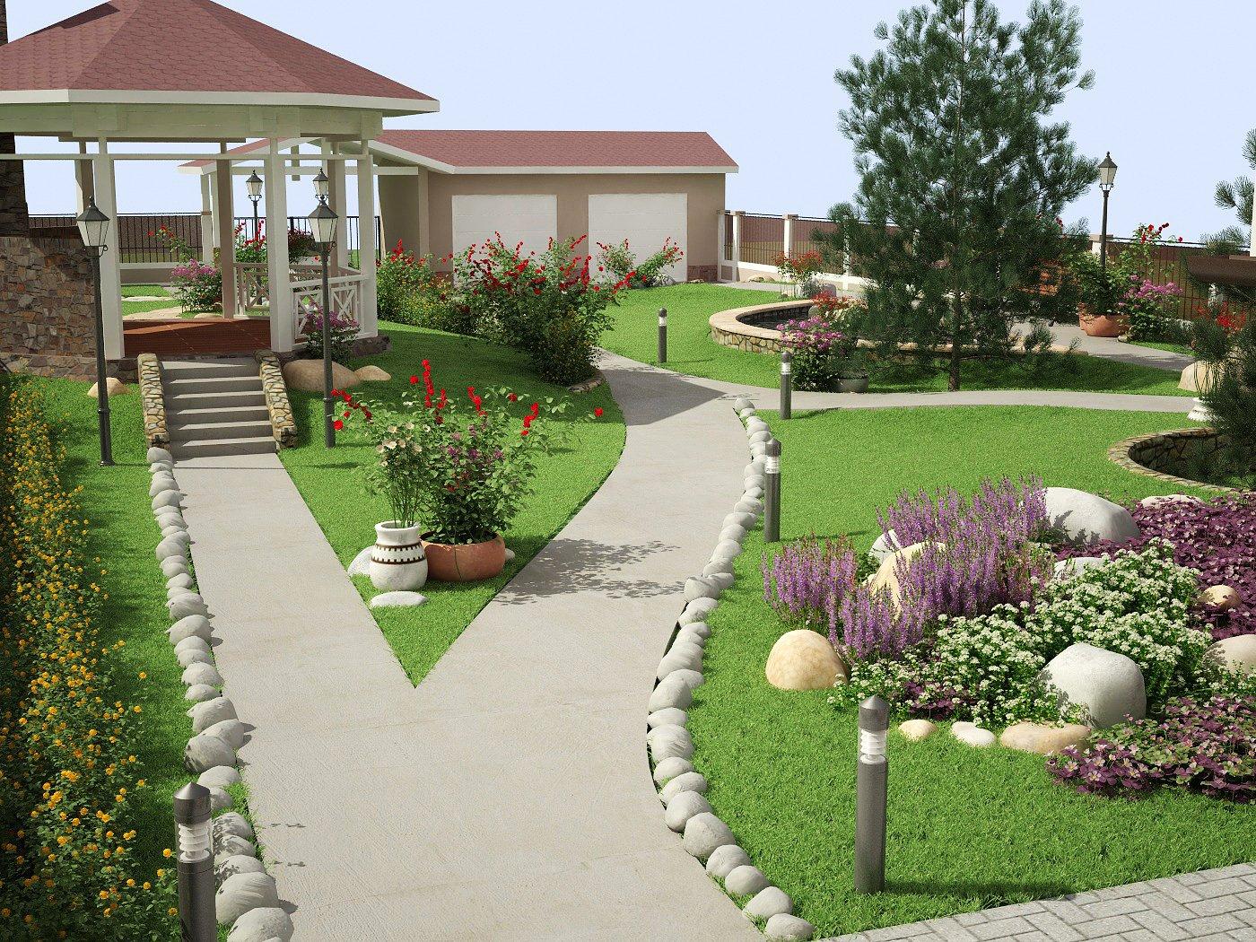 Благоустройство участка – советы по комплексному озеленению и подбору стиля для ландшафтного дизайна