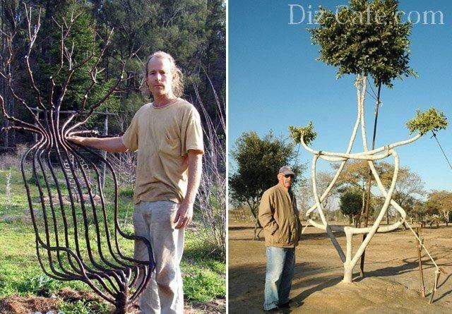 Арбоскульптура: фантазийные изделия из стволов деревьев