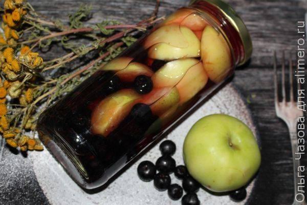 Компот из черноплодки с яблоками на зиму – минимум хлопот, максимум вкуса. варим «алтайский» компот: яблоки с черноплодной рябиной
