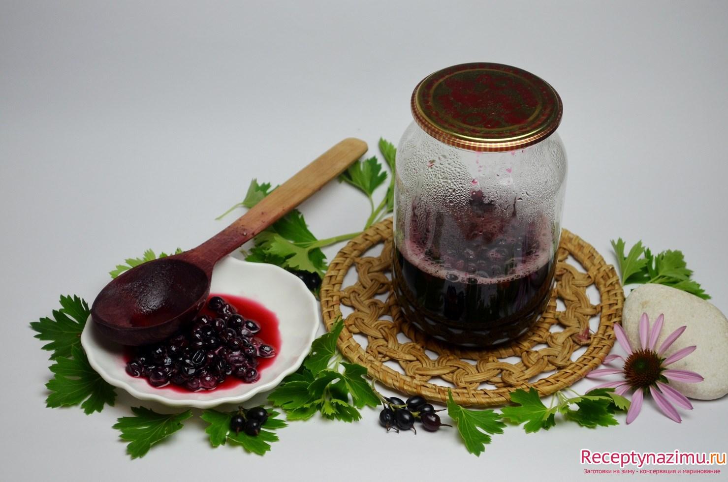 """Варенье из черной смородины """"пятиминутка"""" на зиму – желеобразное варенье 5 минутка (простой рецепт)"""