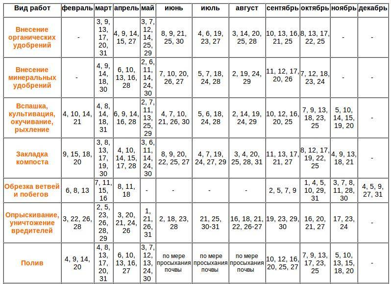 Лунный посевной календарь на 2021 год. благоприятные дни для посадки в 2021 году