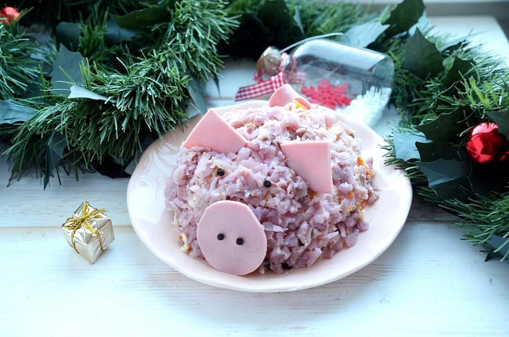 Салаты на новый год 2019, простые и вкусные рецепты с фото, что должно быть на столе, что готовить новое и интересное — салат в виде свиньи на новый год