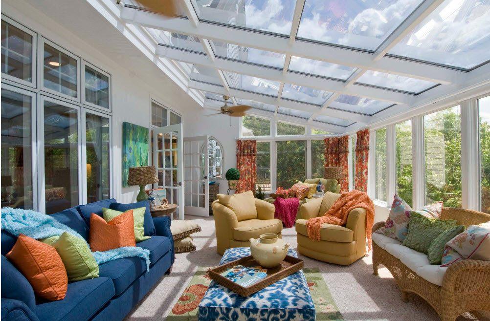 100 лучших идей дизайна: закрытая веранда с растениям на фото