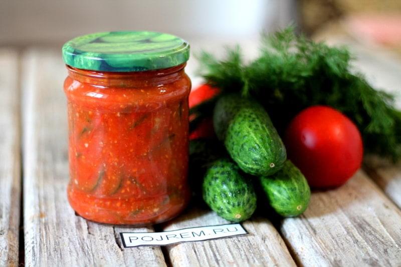 Огурцы в томате на зиму — 6 обалденных рецептов