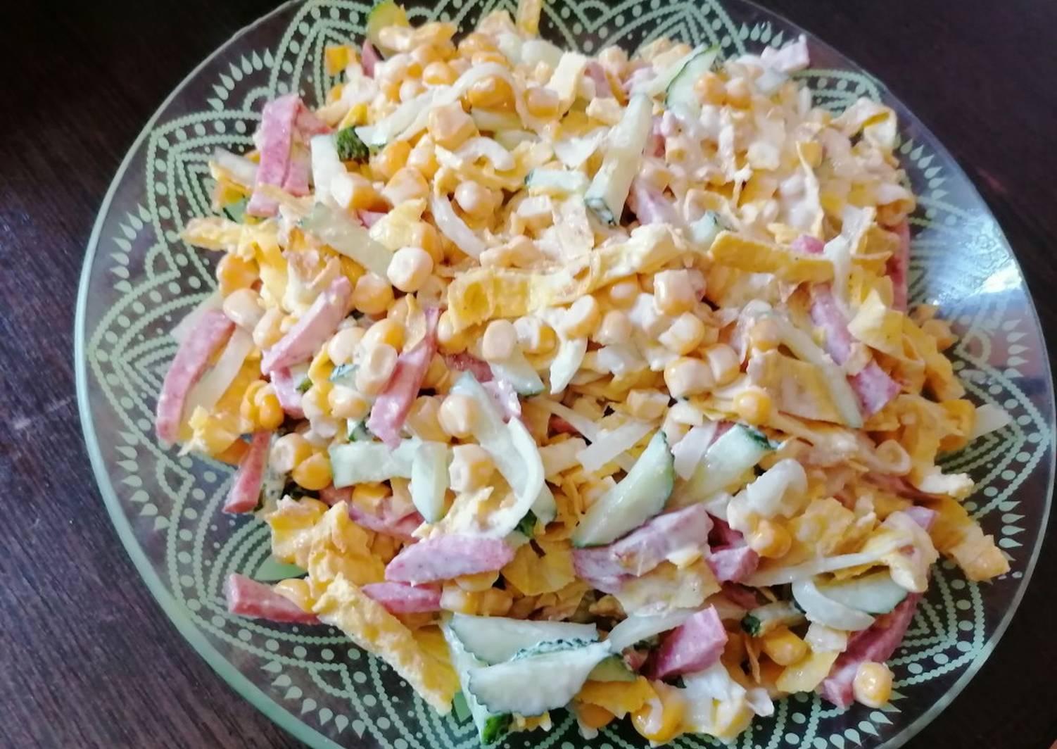Салат блинный с курицей - французская изюминка к вашему столу: рецепт с фото и видео
