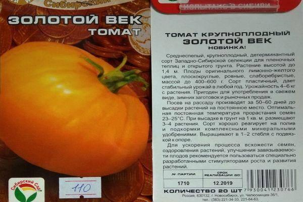 Описание крупноплодного томата Золотой век, выращивание и уход