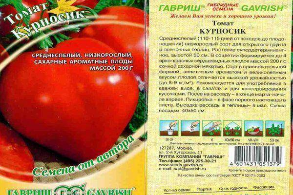 Описание томата Курносик: особенности сорта и уход